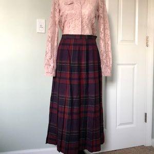 Vintage TALBOTS plaid midi skirt